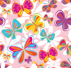 seamless background with butterfly