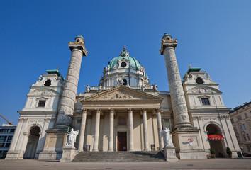Karlskirche (St. Charles Church, 1737). Vienna, Austria