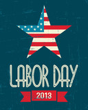 Fototapety American Labor Day Poster