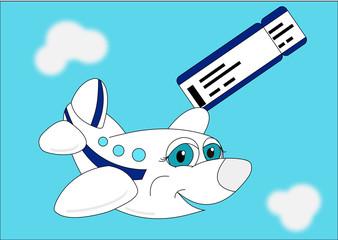 Самолет с посадочным талоном