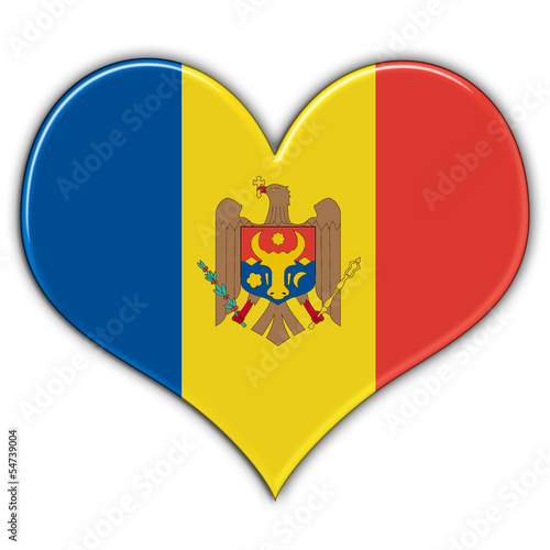 Heart with flag of Moldova