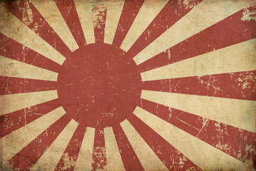 Japan's Emperial Navy Ensign Flat Aged