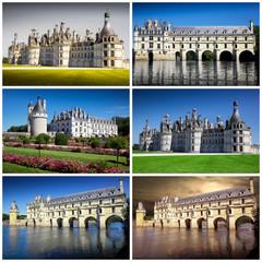 castelli della loira collage