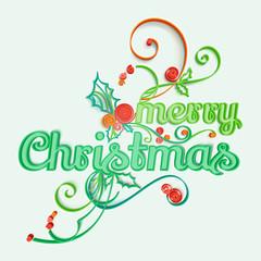 Merry Christmas Paper Art