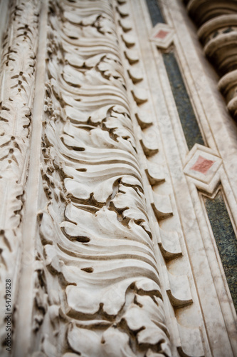Marble detail of Florence Cathedral