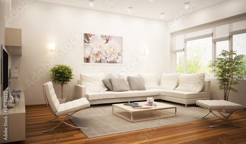 Leinwanddruck Bild Living room in the hotel