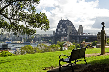 Sydney, Dawes Point, Skyline; Harbour Bridge