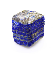 Lapis Lazuli rock isolated on white background