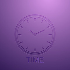 background with clock icon