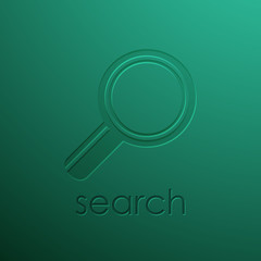 green background with magnifying glass