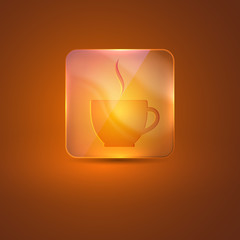glass icon with coffee cup