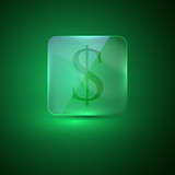 glass icon with dollar sign