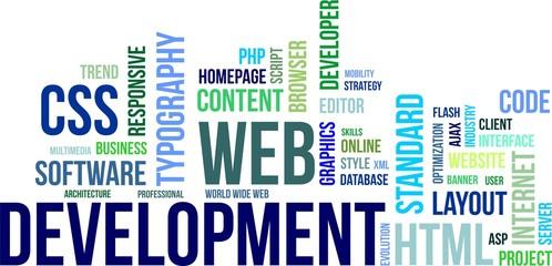 word cloud - web development