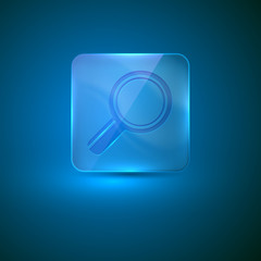 search icon. glass icon with magnifier