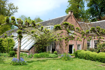 Farmhouse on the estate Duivenvoorde The Netherlands.