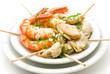 plato de langostinos y mejillones
