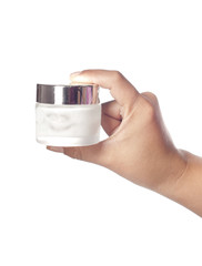 Hand Displaying Moisturizer Bottle