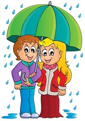 Rainy weather theme image 1