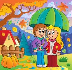 Rainy weather theme image 2
