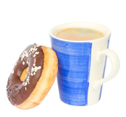 donut with coffee mug