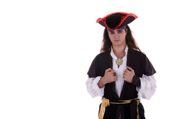 Pirate isolated on white background