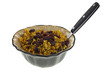 Spicy Rice and Raisins Dish Fork