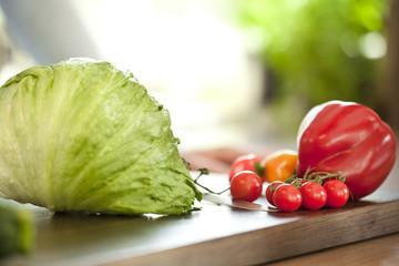 Salad and Tomato