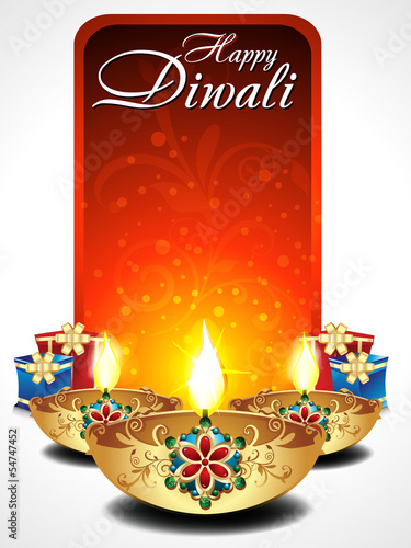abstract dilwali background with gifts