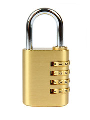 padlock with combination lock,in locked  position