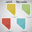 stickers in form of Nevada state, USA