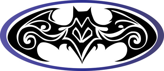 bat man tattoo design