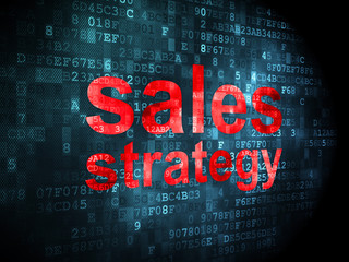 Marketing concept: Sales Strategy on digital background