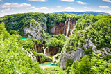 "Waterfalls in ""Plitvice lakes"" National Park in Croatia."