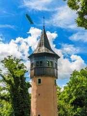 Alter Wachturm, genannt Schwedenturm, auf Insel Mainau