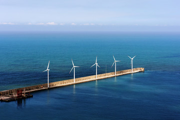 windfarm on the sea