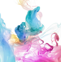 Acrylic colors in water. Abstract background. © Liliia