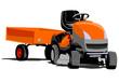 lawn tractor illustration