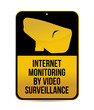 internet monitoring by video surveillance sign