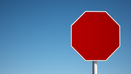 Red Blank Sign with Clipping Path