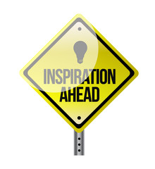 inspiration ahead road sign illustration design