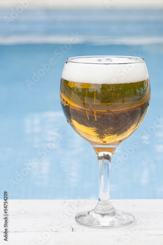 Beer at poolside