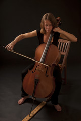 Woman playiing Cello