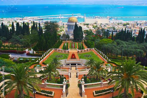 Fotobehang Midden Oosten Bahai Gardens in Haifa Israel