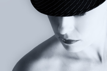 Artistic conversion woman with hat