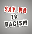 say no to racism poster