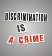 discrimination is a crime poster