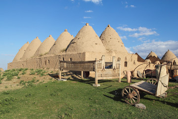 Harran beehive adobe houses, Urfa region, Turkey