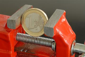 Euro, Schraubstock, EZB, Währung, Wechselkurs, Geldpolitik