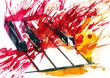 Leinwanddruck Bild - piano