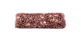Granola bar isolates on white background